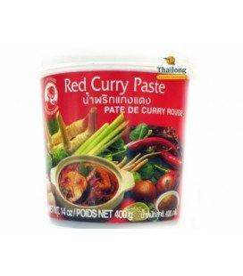 Curry rouge pâte 400 g COCK