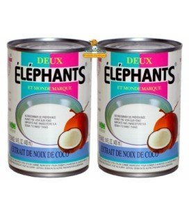 Lait de coco 400 ml DEUX ELEPHANTS